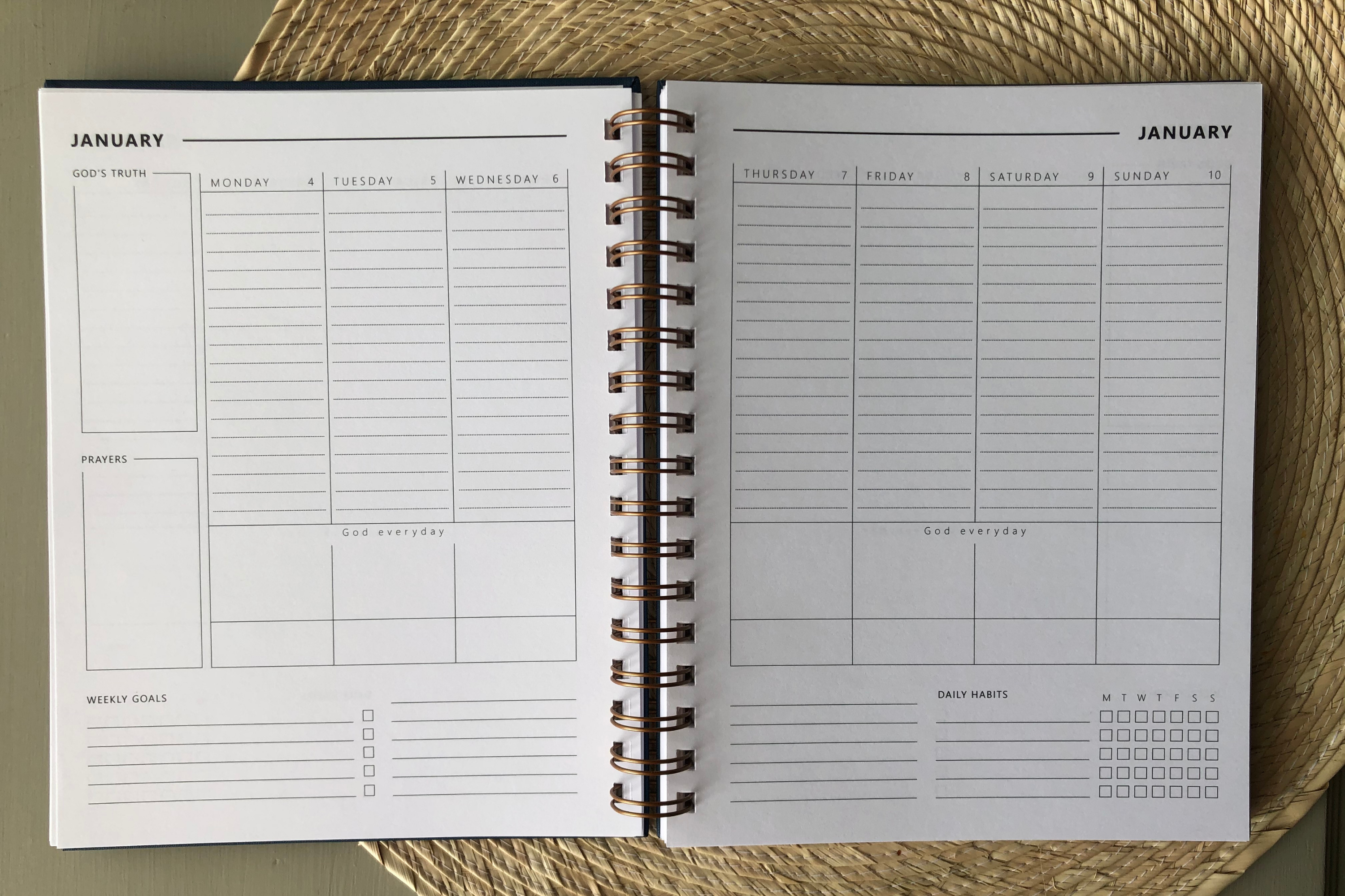 Christian weekly planner