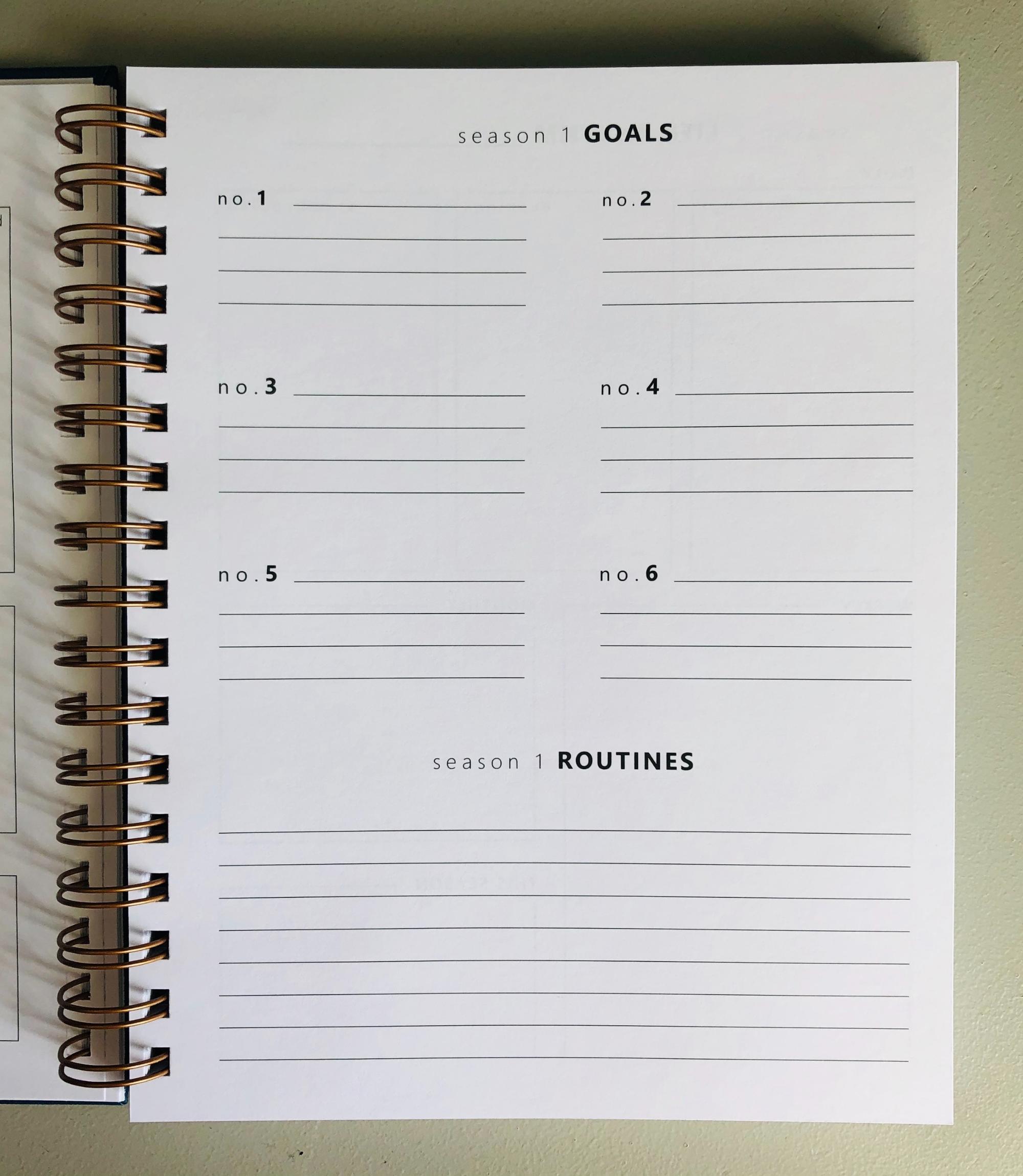 Christian goal planner