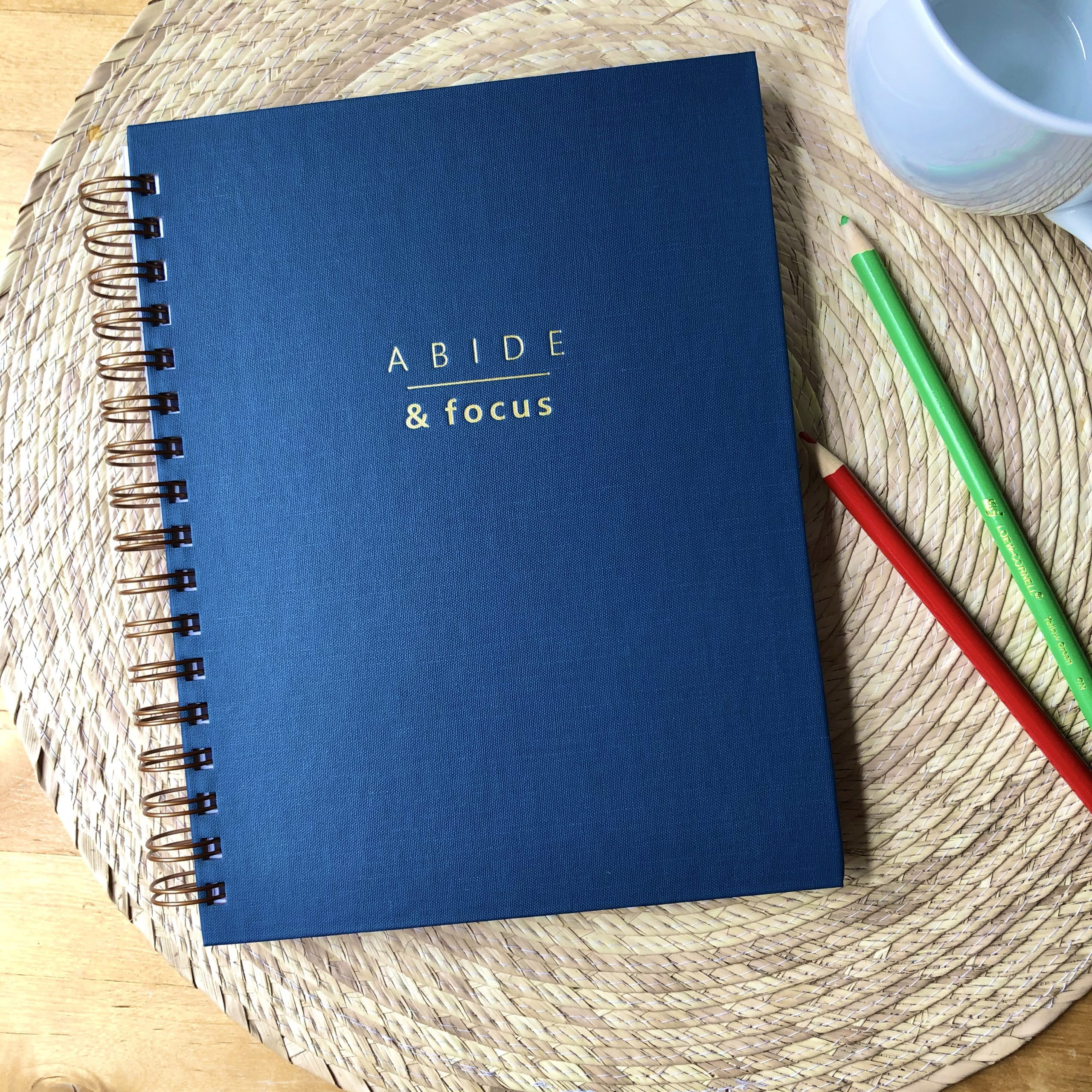 spiral bound Christian planner with hard cover